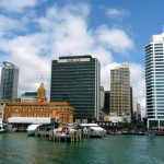 View of Auckland CBD from the ferry