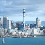 View of Auckland CBD from Devonport beach/Pier