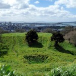 Mt Eden, view overlooking Auckland city