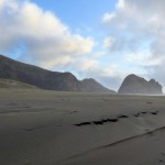 Piha beach, black sand