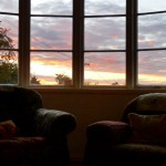 Sunset from the living room